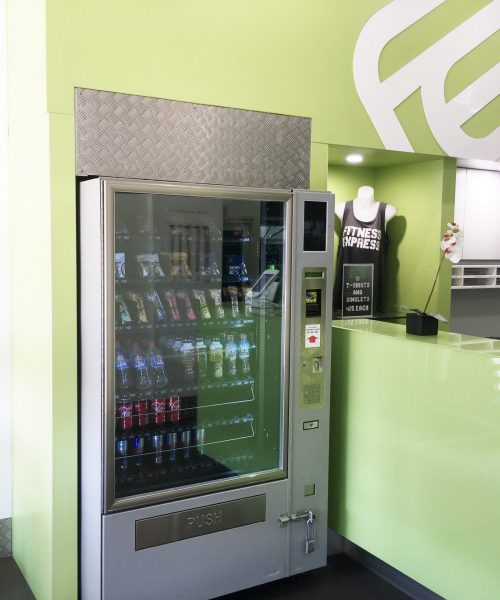 fitness express vending machin